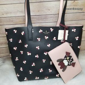 Kate Spade Large Pup Puppy Dog Reversible Tote New